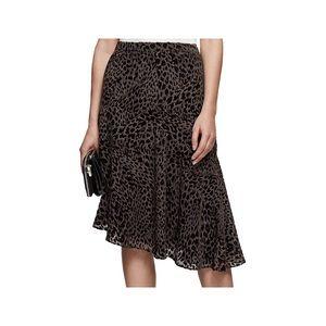 Reiss  Neelam Burnout Midi Skirt